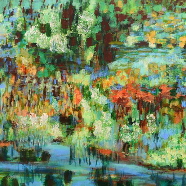Grüne Landschaft 2, 2016, 100x135cm, Acryl auf Leinwand