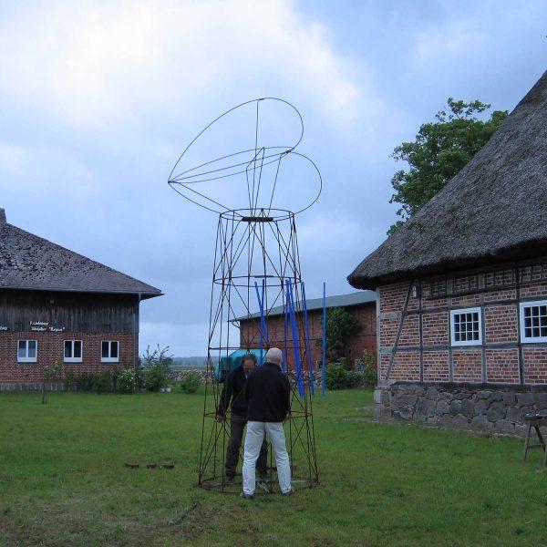Herzturm 2006 500x150cm Rundeisen