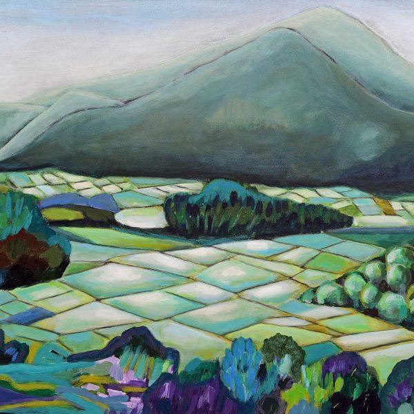 Reisfelder, 2014, 80x100cm, Mischtechnik auf Leinwand
