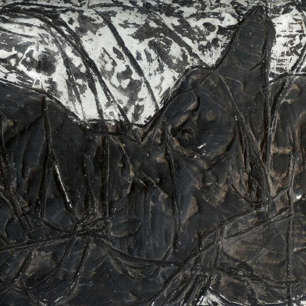 Relief (3), 1988, Gips, Tusche