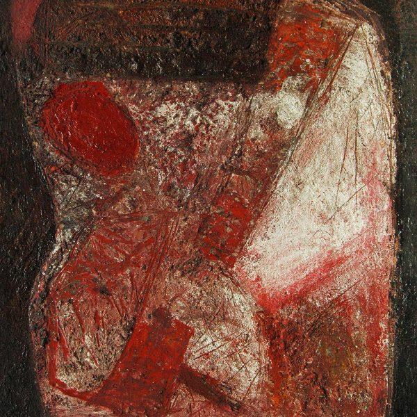 Ruine 2, 1991, 62x50cm, Erde, Pigment auf Karton