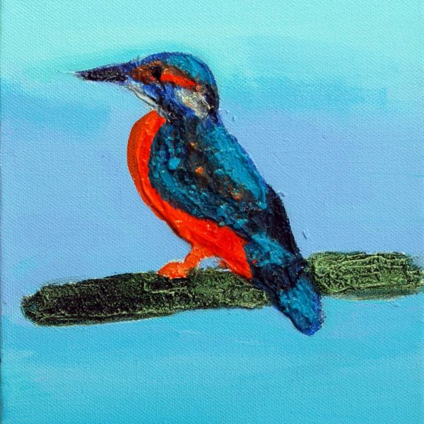 Eisvogel, 2009, 24x18cm, Mischtechnik auf Leinwand